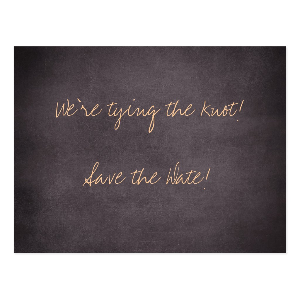 We're tying the knot-Save the Date Cards 8 postcards.