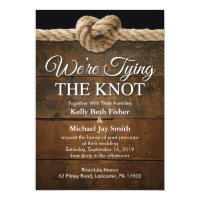 We're Tying The Knot Wedding Invitation