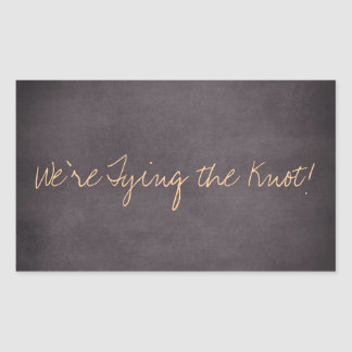 We're Tying the Knot Wedding Invite Stickers