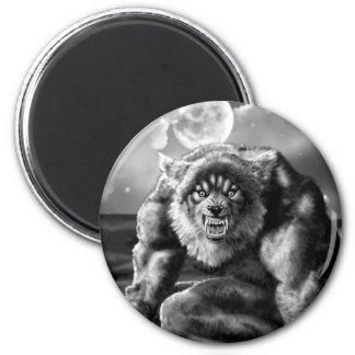 werewolf 2 inch round magnet