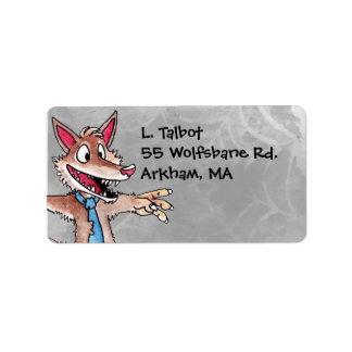 Werewolf Address Label