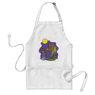 Werewolf and Son Apron Apron