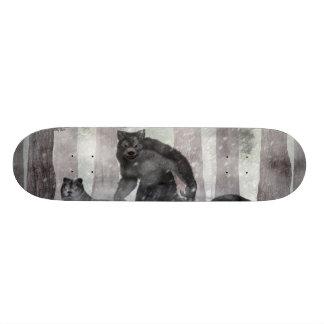 Werewolf and Wolves Skateboard Deck