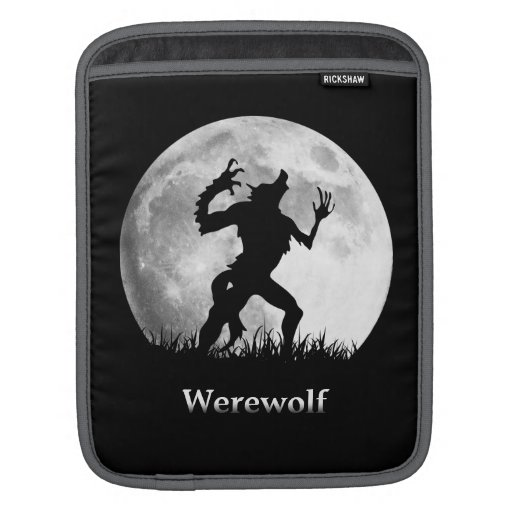 Werewolf at the Full Moon - Cool Halloween iPad Sleeve