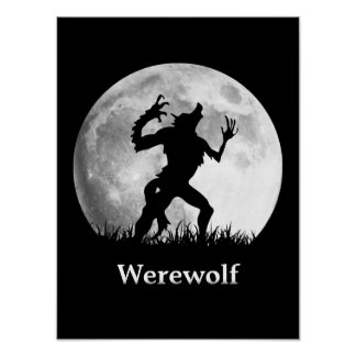 Werewolf at the Full Moon - Cool Halloween Poster