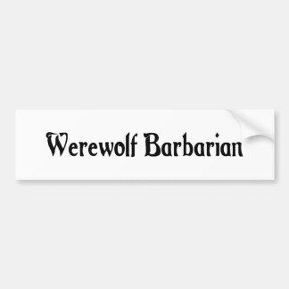Werewolf Barbarian Bumper Sticker