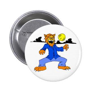 Werewolf blue suit moon cloud buttons