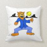 Werewolf blue suit moon cloud pillow