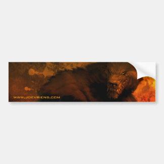 werewolf bust bumper sticker car bumper sticker