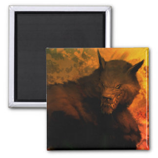 Werewolf bust Refrigerator Magnet