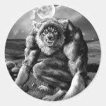 werewolf classic round sticker