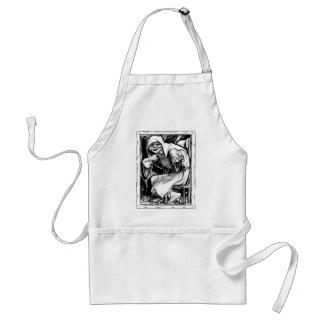 werewolf-clipart-1 adult apron