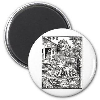werewolf-clipart-8 imán redondo 5 cm