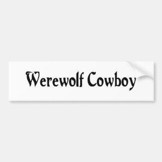 Werewolf Cowboy Bumper Sticker Car Bumper Sticker