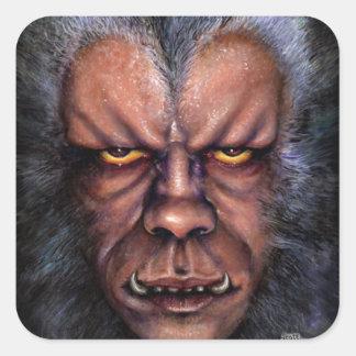 Werewolf Curse Square Sticker