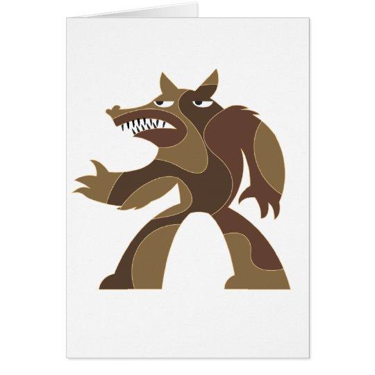Werewolf Dude Card