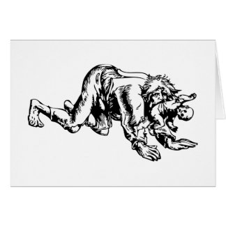Werewolf Eating Baby Greeting Card