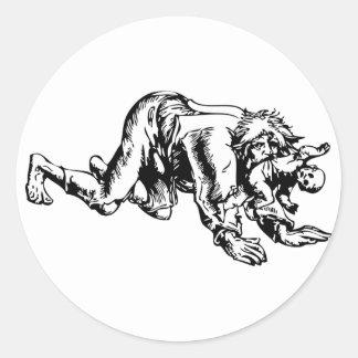 Werewolf Eating Baby Classic Round Sticker
