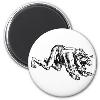 Werewolf Eating Baby Magnet