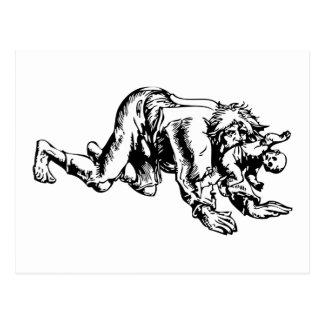 Werewolf Eating Baby Postcard