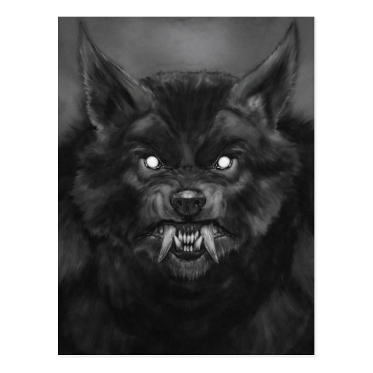 Werewolf face Postcards