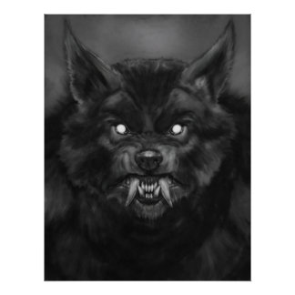 'Werewolf face' Posters