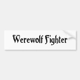Werewolf Fighter Bumper Sticker