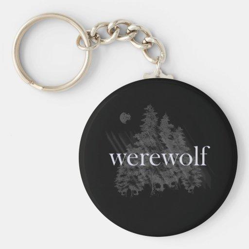 Werewolf Forest Keychain