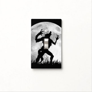 Werewolf Full Moon Transformation - Funny Horror Switch Plate Covers