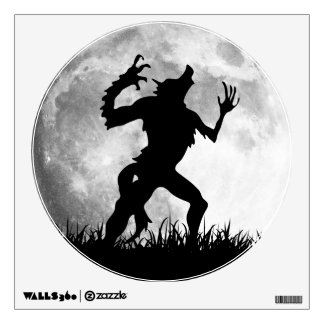 Werewolf Full Moon Transformation - Horror Wall Decal
