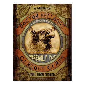 Werewolf Fur Postcard