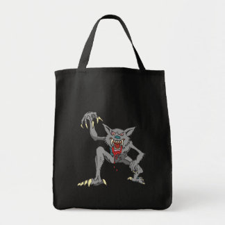 Werewolf Grocery Tote Bags