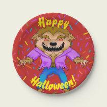 Werewolf Halloween Paper Plates