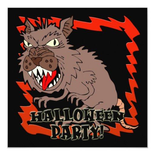 Werewolf Halloween Party Invitation