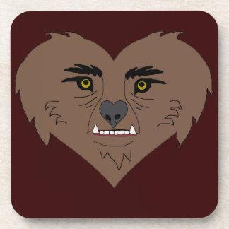 Werewolf Heart Face Coaster
