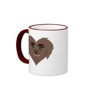 Werewolf Heart Face Ringer Coffee Mug