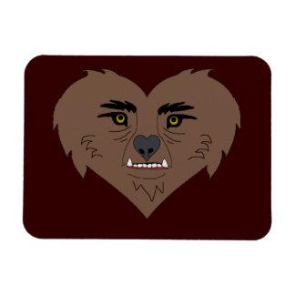Werewolf Heart Face Rectangular Photo Magnet