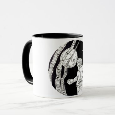 Halloween Themed Werewolf hitchhiker mug
