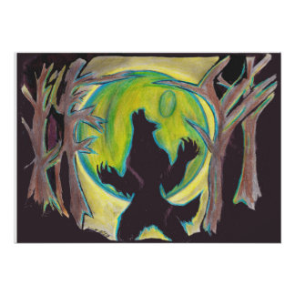 WEREWOLF HOWLING AT THE MOON POSTER