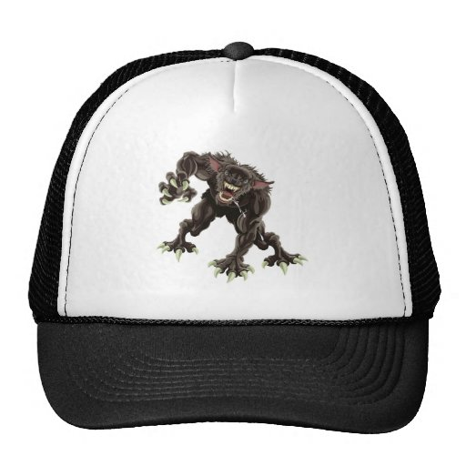 Werewolf illustration trucker hat
