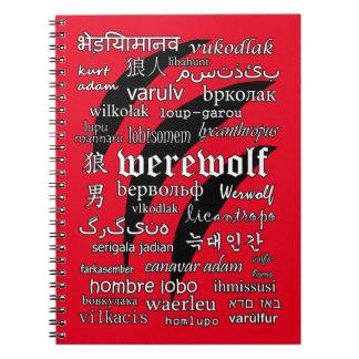 Werewolf in 33 Languages Spiral Photo Notebook