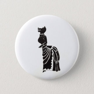 Werewolf In A Fancy Dress Pinback Button