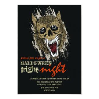 Werewolf in Black Halloween Party Invitation