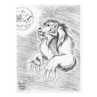 Werewolf in Pencil Postcard