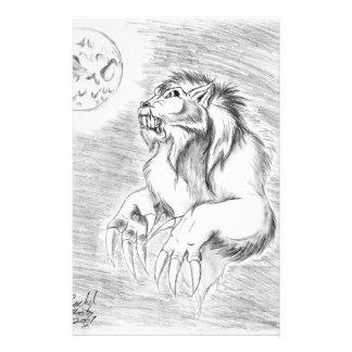 Werewolf in Pencil Stationery