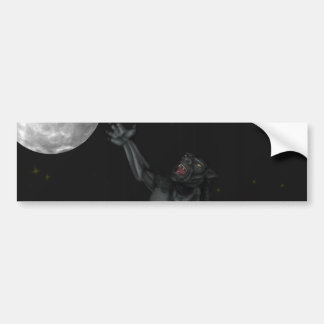 Werewolf Lycan Howling and Baying At The Moon Bumper Sticker
