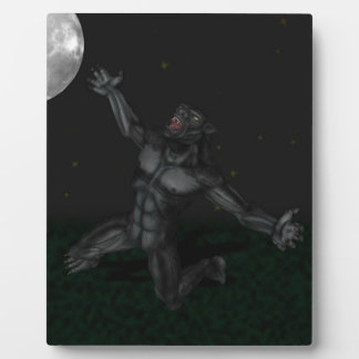 Werewolf Lycan Howling and Baying At The Moon Plaque