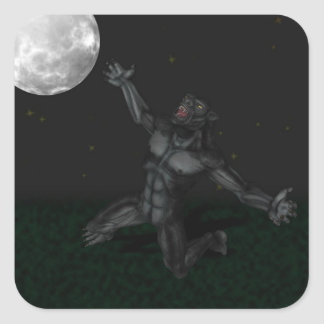 Werewolf Lycan Howling and Baying At The Moon Sticker