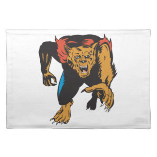 Werewolf Monster Placemat