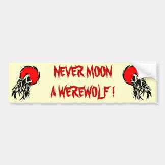 Werewolf Moon Bumper Sticker